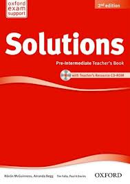 Solutions Pre-Intermediate Teacher's Book and CD-ROM Pack