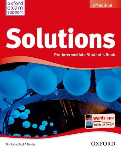Solutions Pre-Intermediate Student Book
