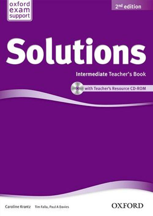 Solutions Intermediate Teacher's Book and CD-ROM Pack