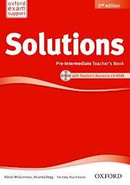 Solutions Pre-Intermediate Teacher's Book and CD-ROM Pack