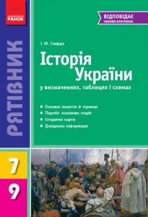 Рятівник Історія України у визначеннях таблицях і схемах 7—9 класів