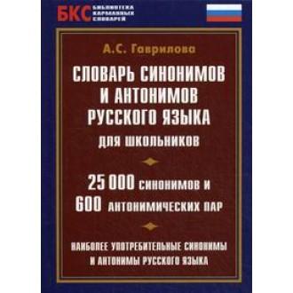 Словник синонімів і антонімів сучасної російської мови для школярів