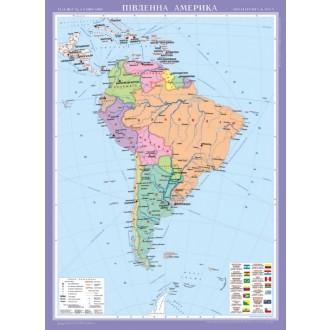 Південна Америка. Політична карта, м-б 1:8 000 000