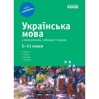 Рятівник Українська мова у визначеннях таблицях і схемах 5-11 класів