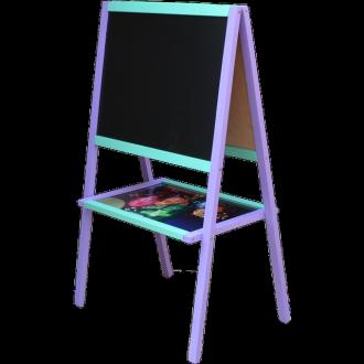 Мольберт розумник фіолетово-блакитний з малюнком