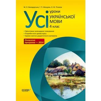 Усі уроки української мови 4 клас