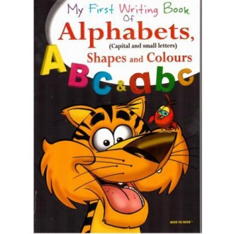 My first writing book of Alphabets, shapes and colours