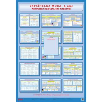 Українська мова 6 клас Комплект навчальних плакатів