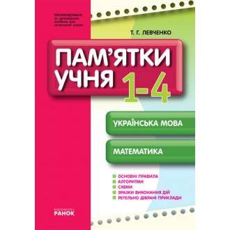 Пам'ятки для учня  Українська мова Математика 1-4 клас
