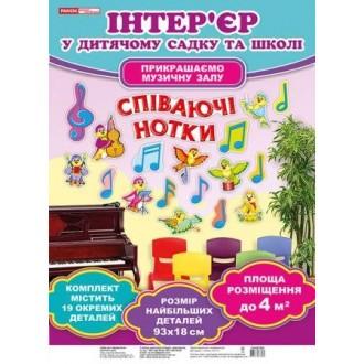 Набір для оформлення музичної зали Співаючі нотки