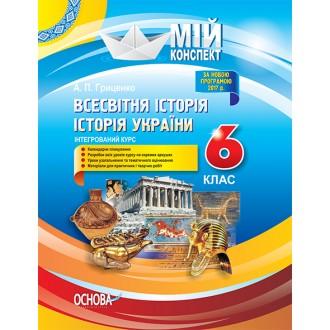 Конспект уроків 6 клас Всесвітня історія Історія України