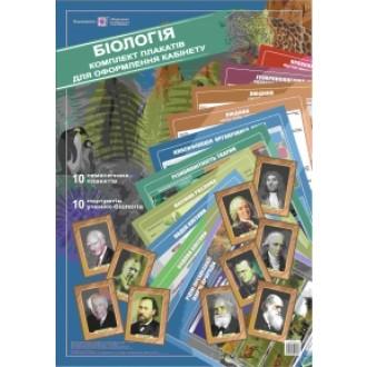 Набір плакатів для оформлення кабінету біології