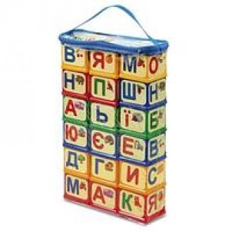 Абетка Кубики з елементами кріплення