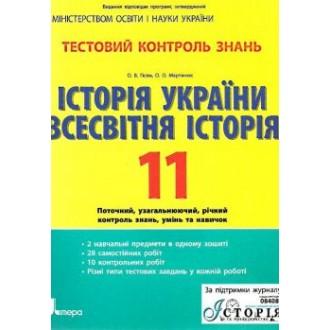 Тестовий контроль знань Історія України Всесвітня Історія 11 кл