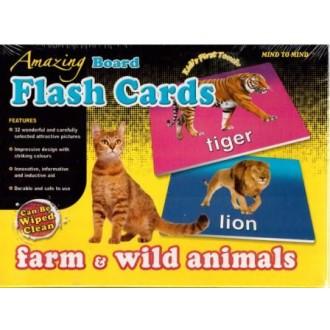 Flash cards Farm & wild animals