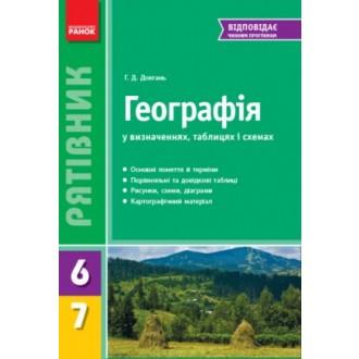 Рятівник Географія у визначеннях схемах таблицях  6—7 класи