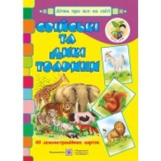 Свійські та дикі тварини Демонстраційні картки