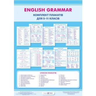 Англійська граматика  Комплект плакатів для 5–11 класів