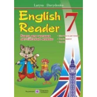 Книга для читання англійська  мова  7 клас English Reader автора Л.Давиденко