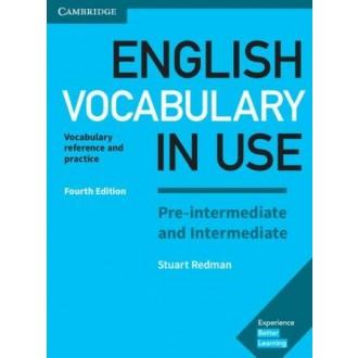 English Vocabulary in Use Fourth Edition Pre-Intermediate and Intermediate