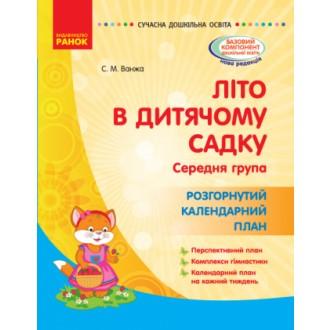Літо в дитячому садку Середня група Розгорнутий календарний план
