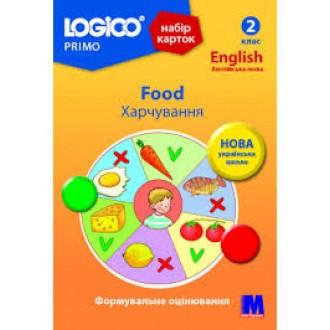Logico Primo Набір карток Харчування 2 клас 13 карток НУШ