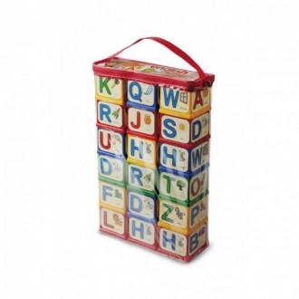 Англійська абетка Кубики з елементами кріплення