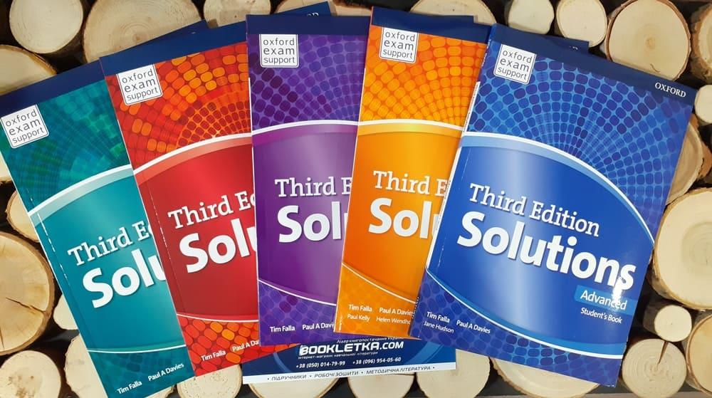 Oxford підручник з англійської мови solutions купити бажають учні, студенти та вчителі.