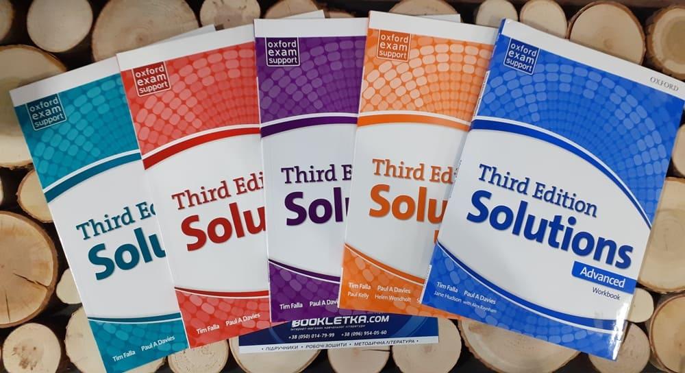 Інтернет-магазин Буклетка представляє навчально-методичний комплекс Oxford Solutions з п'яти рівнів.